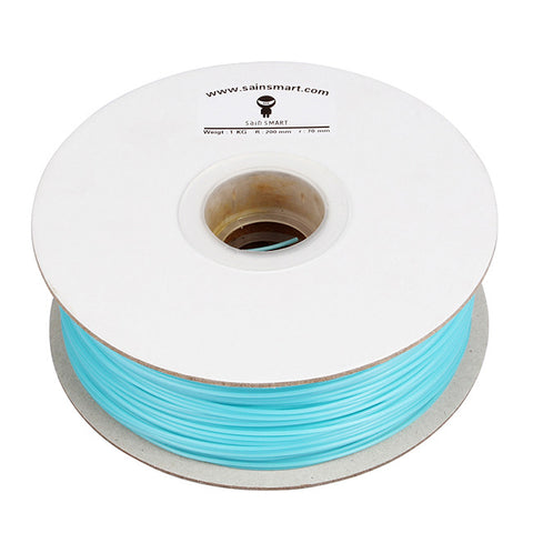 PLA 3D Printing Filament, 1.75mm 1kg / 2.2lb for 3D Printers RepRap Prusa (Luminous Blue)