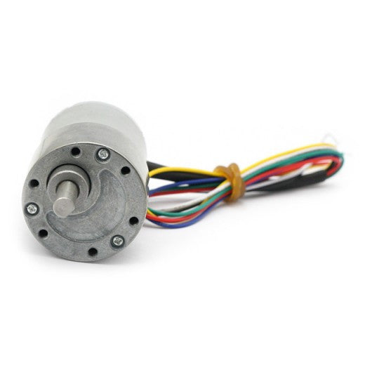 [Discontinued] 29:1 Metal Gearmotor 365rpm 37Dx52L mm with 64 CPR Encoder 12V