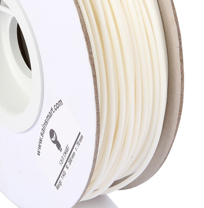 ABS 3D Printing Filament 3mm 1kg/2.2lb for 3D Printers RepRap Prusa (White)