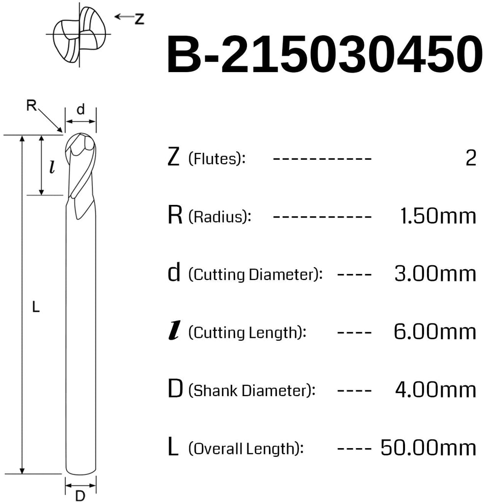 Genmitsu CNC Ball Nose End Mill