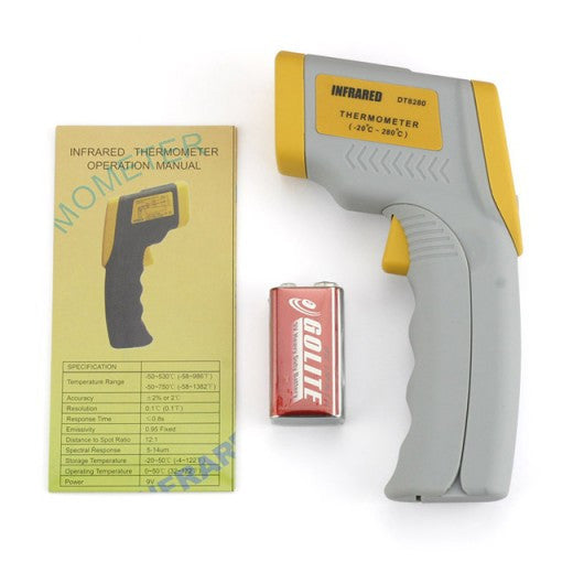 Non-contact Laser Infrared Themometer Gun DT-8280, Temperature Range -58 F to 536 F