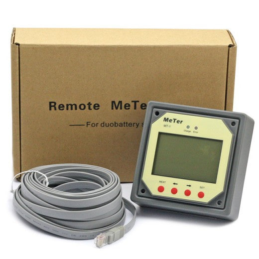 MT-1 LCD Display Remote Meter For Duo Battery Solar Charge Controller with 10 Meters Wire