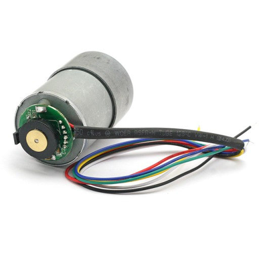 29:1 Metal Gearmotor 365rpm 37Dx52L mm with 64 CPR Encoder 12V