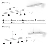 Linkable LED Light System 6 Pack Combo Set, Shape [X] and Straight, 5000K Cool White
