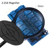 XpertMatic PD-4S 2in1 LED Flexible Magnifier, 5X, 38LEDs, 360mm