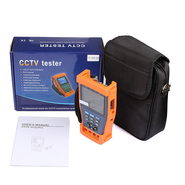 "3.5/"" LCD Monitor CCTV Secuirty Camera Video Audio PTZ UTP CCTV Tester 12V Output"