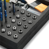 Genmitsu EVA CNC Milling Bit Storage Tray with 85 Holes