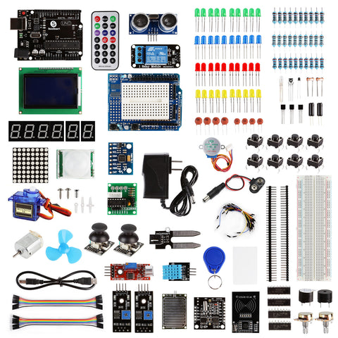 Uno Learning Kit, Compatible with Arduino, Ultimate Edition (BAI)
