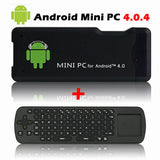 MK802+ Mini PC Android 4.0.4 WIFI Google IPTV TV Box +  RC12 Wireless Touch Keyboard