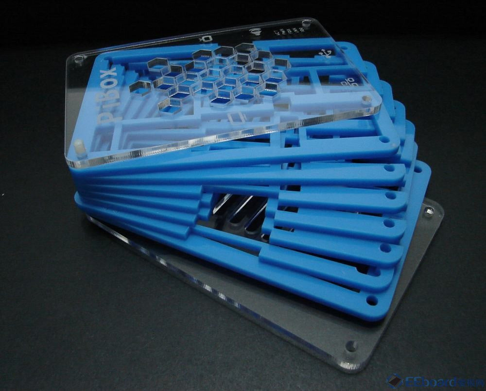New Case for Raspberry Pi Model B Case Box Enclosure blue clear top 18946119018