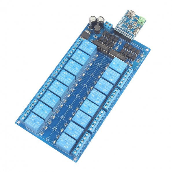 16-Channel USB HID Programmable Control Relay Module[US ONLY]