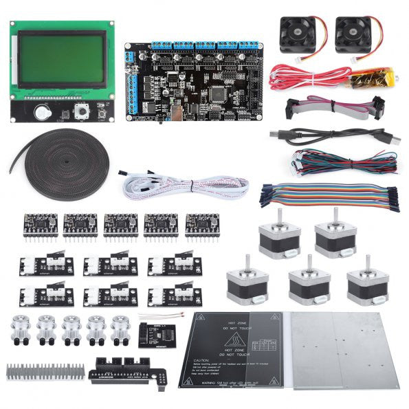SainSmart Ramps V2 LCD12864 A4988 MK2b J-head Endstop 3D Printer Kit For RepRap