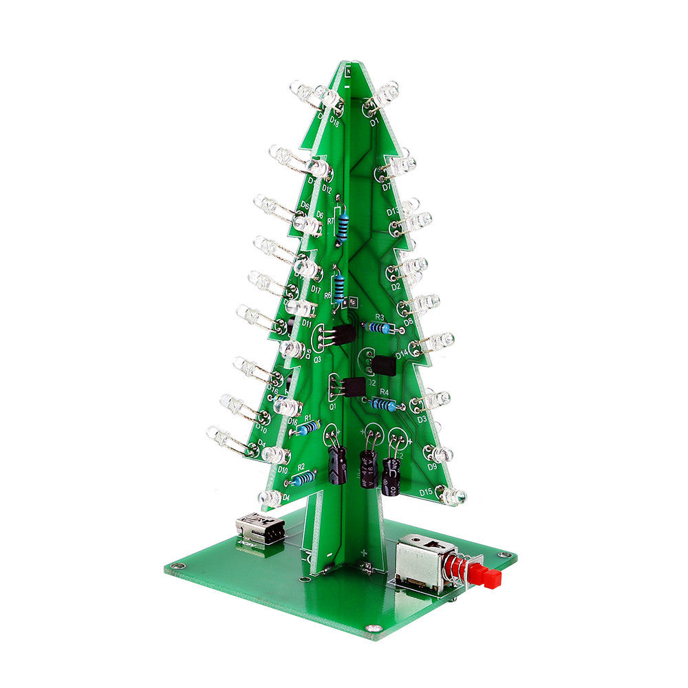 ... SainSmart Christmas Tree LED Flash Kit 3D DIY Electronic Learning Kit  Colorful Lights Without Case 7colors ...