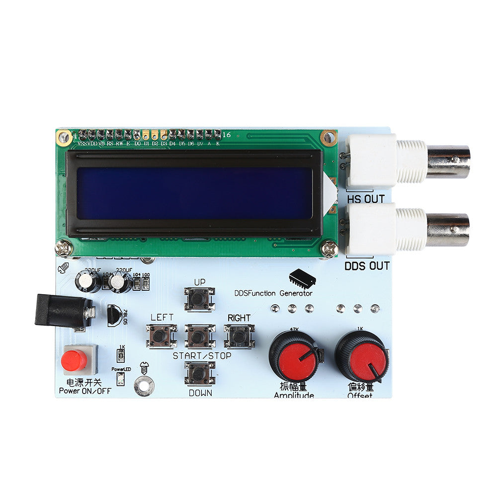 9v Dds Function Signal Generator Digital 1602 Lcd Display Diy Kit Frequency Meter Sine Square Sawtooth Triangle Wave Dc 7v Active Components Integrated Circuits