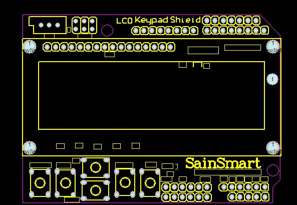 SainSmart 1602 LCD Keypad Shield for Arduino – SainSmart com
