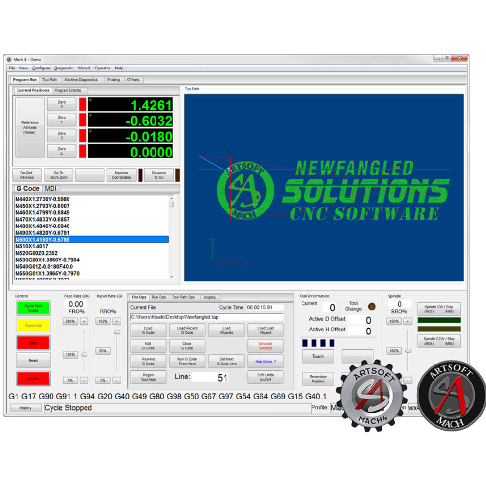 MACH4 CNC Software