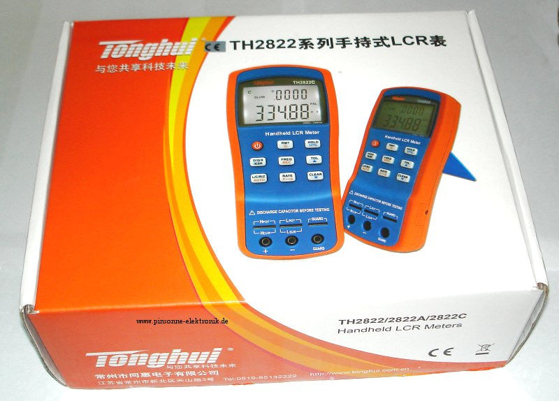 Brand New Portable Handheld LCR Meter TH2822A Capacitance Impedance 100Hz-10KHz