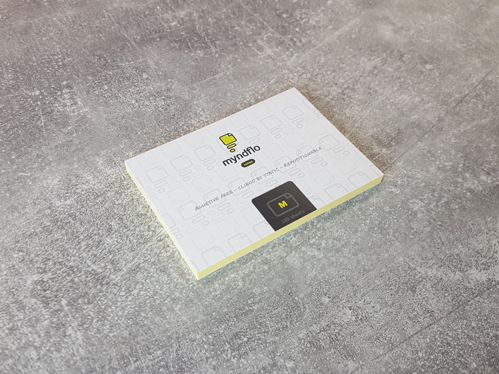Single notepad MEDIUM 100X70mm. 100 sheets. Choose colour.