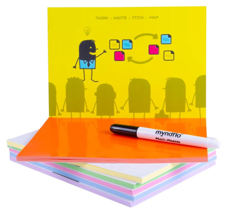 Static Notes Multi-Pack, Assorted Colours, 12 Small, 6 Medium