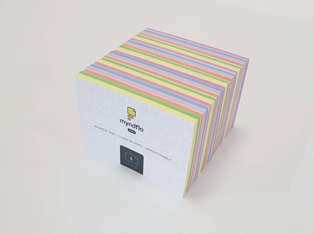 Static Notes Value Pack Large, Assorted Colours 24 Pack