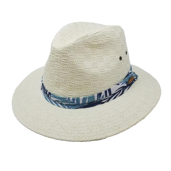 Sun N Sand Got Away Ivy Straw Fedora | Chapel Hats