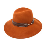 Aristocrat Orange Women's Felt Floppy Brim Fedora Hat | Chapel Hats