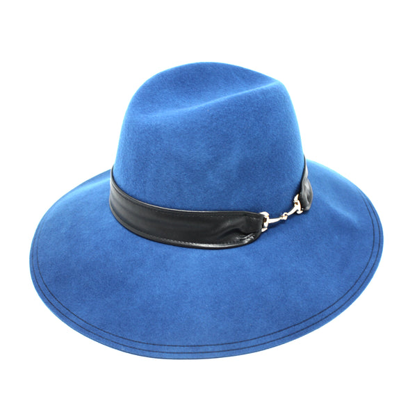 Aristocrat Blue Women's Felt Floppy Brim Fedora Hat | Chapel Hats