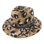 Hatch Cheetah Gambler Women's Felt Fedora Hat | Chapel Hats