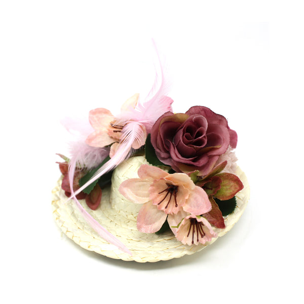 Flower Straw Fascinator Hat for Women | Chapel Hats