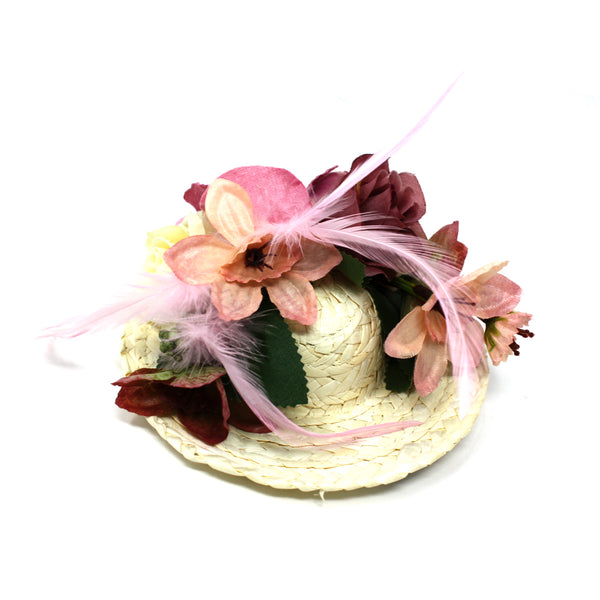 FLOWER STRAW HAT-Chapel Hats