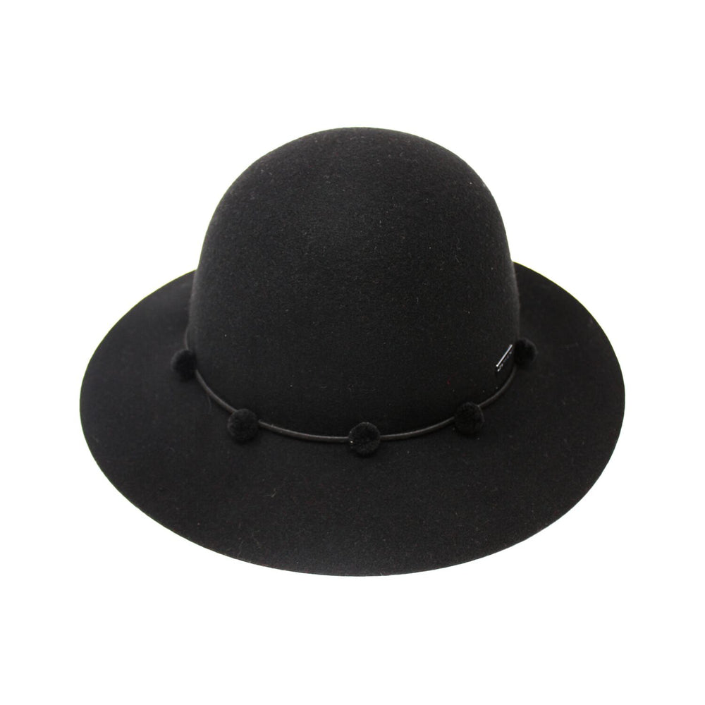 Betmar Frida Women's Black Felt Floppy Hat | Chapel Hats