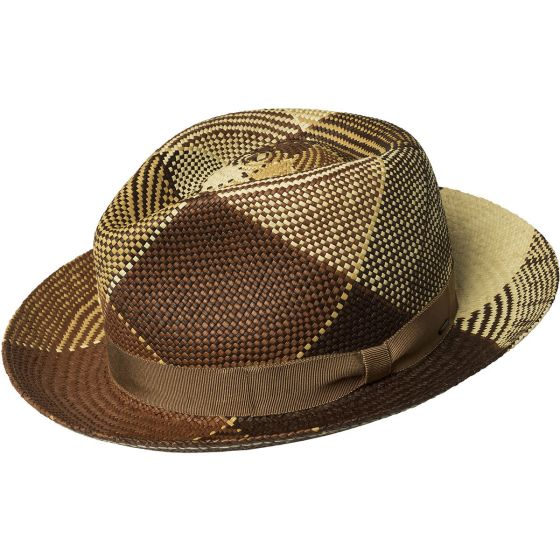 Bailey Ginger Genuine Straw Panama Fedora Hat | Chapel Hats