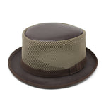 Lombard Leather Mesh Fedora Hat for Men/Women | Chapel Hats