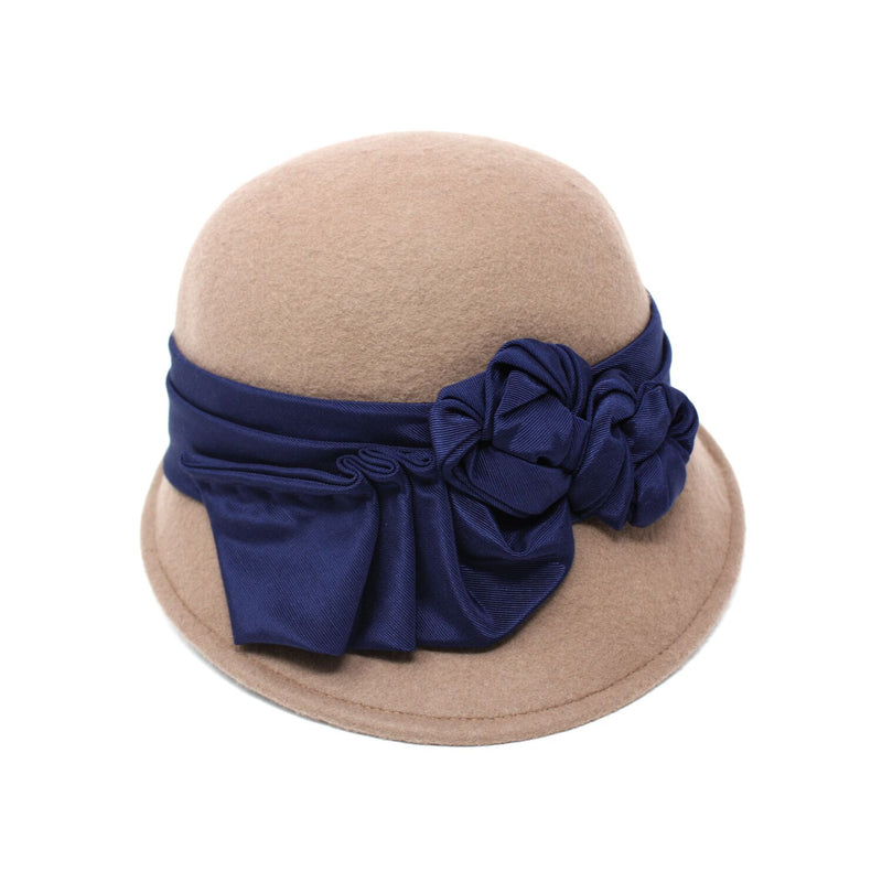 Kathy Jeanne Lula Women's Brown Felt Cloche Hat | Chapel Hats