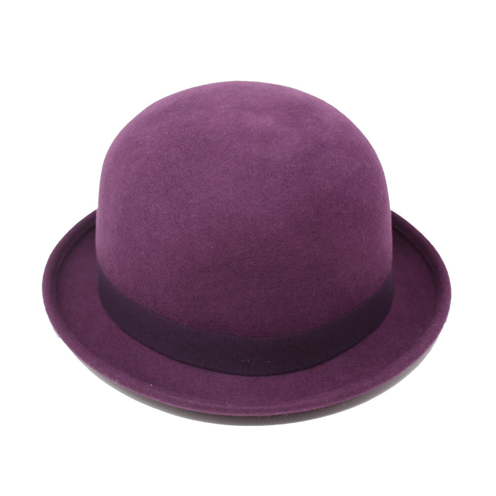 Connor Hats St. George Plum Wool Bowler Hat | Chapel Hats