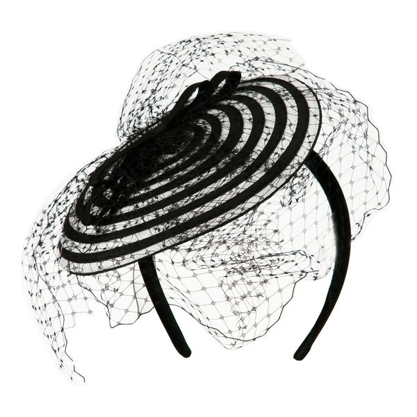 Jeanne Simmons Swirl Fascinator Hat | Chapel Hats