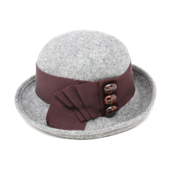 Kathy Jeanne Virgil Women's Wool Felt Cloche Hat | Chapel Hats