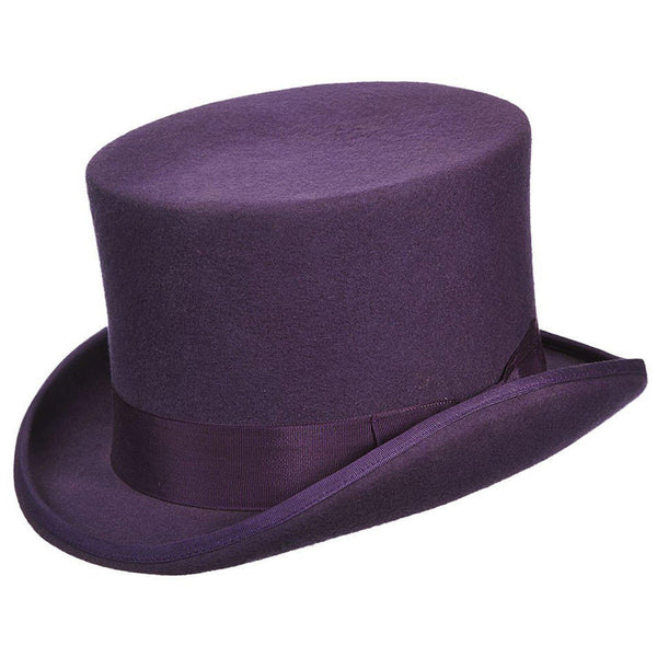 Punk Purple Felt Top Hat for Men/Women | Chapel Hats