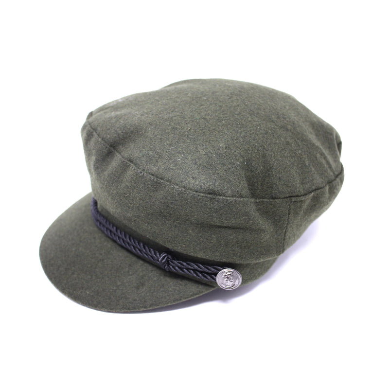 OLIVE Wool Greek Fisherman's Cap for Men/Women | Chapel Hats