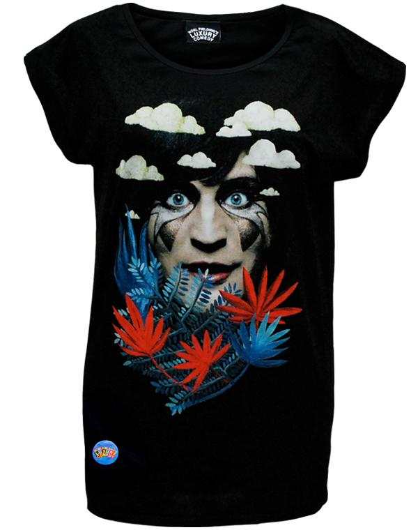 Luxury Comedy (Noel) Black Rolled Sleeve T-Shirt
