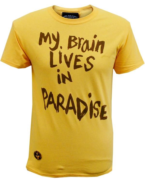 Luxury Comedy (Unisex My Brain Lives In Paradise) Yellow T-Shirt