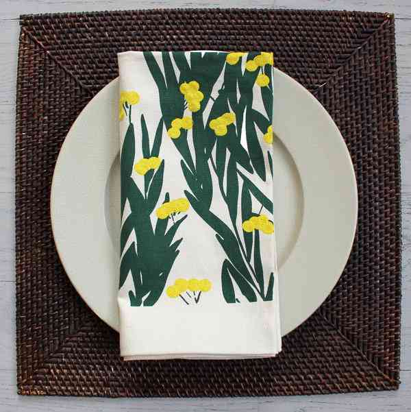 Mimosa Napkins by Donald Sultan