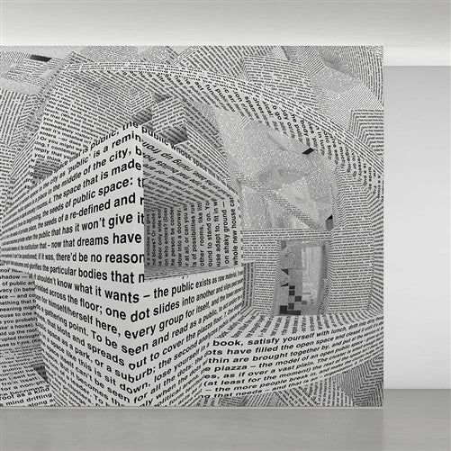 City of Words wallpaper by Vito Acconci