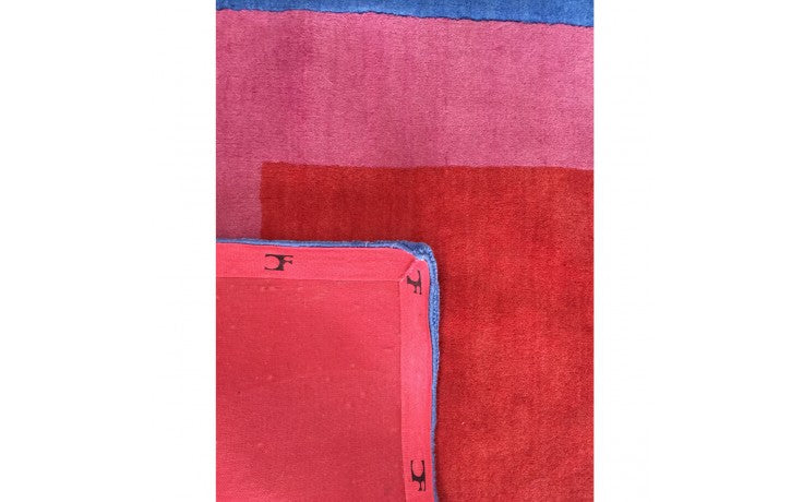 Homage to the Square: Blue, Pink, Red (Rug) by Josef Albers