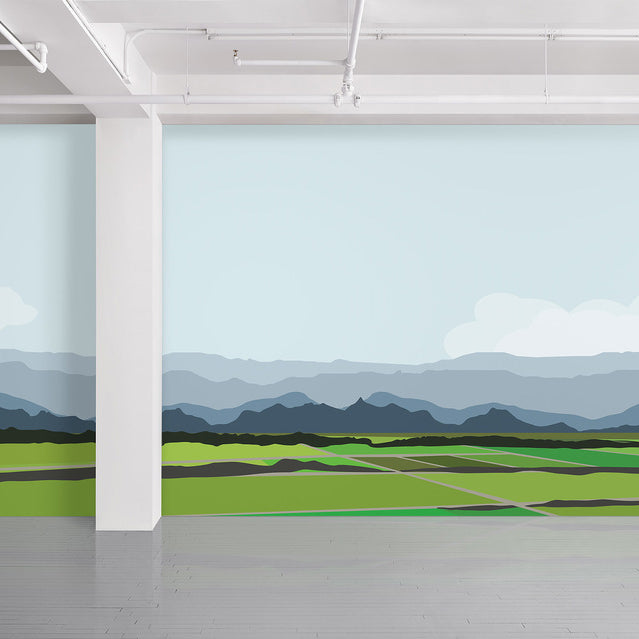 Aside the Mountaintops Wall Covering by Brian Alfred