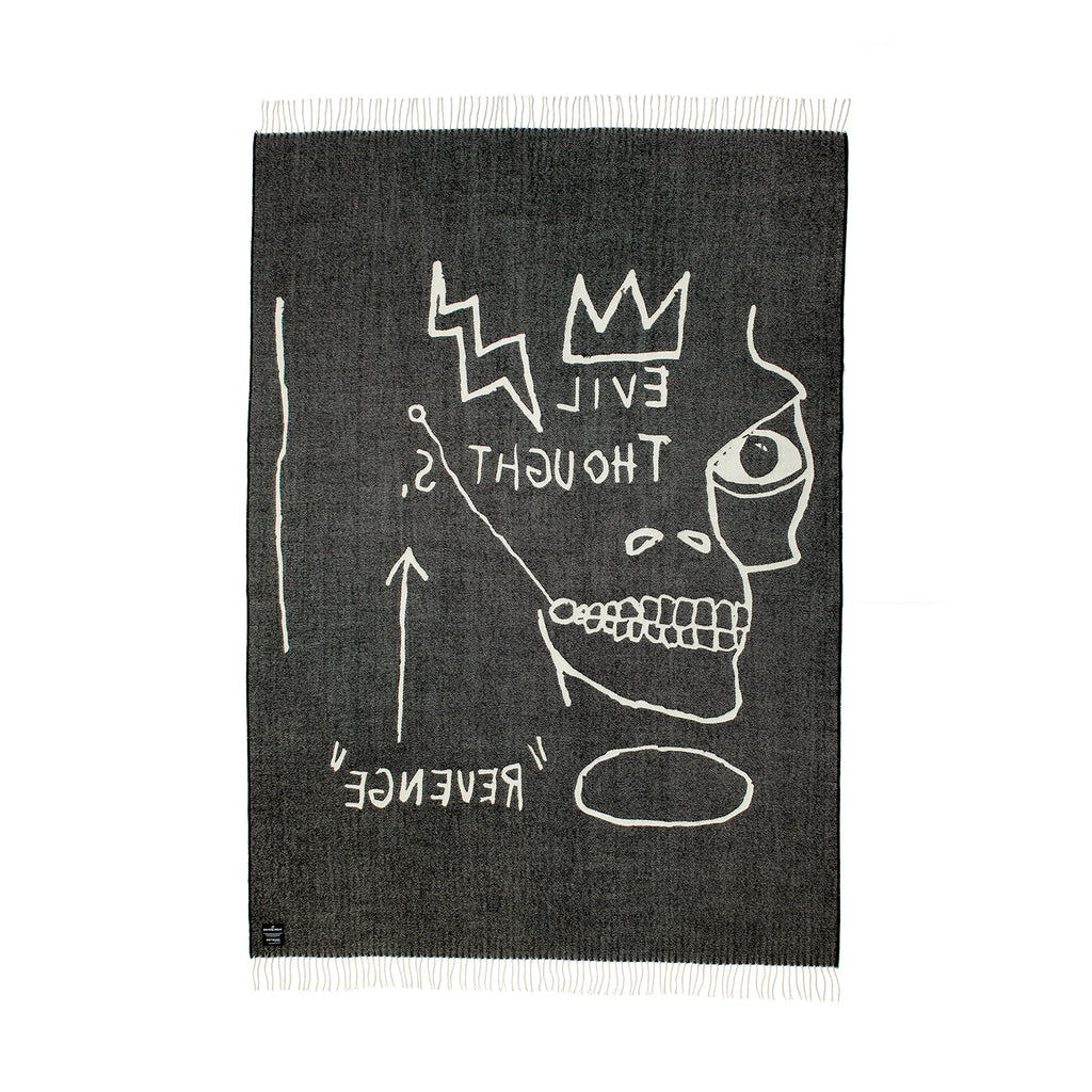 Evil Thoughts Throw by Jean-Michel Basquiat