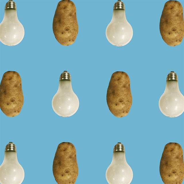 Potato/Lightbulb Wallpaper by John Baldessari