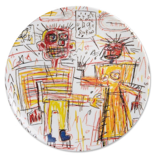 Plate (Self-Portrait...) by Jean-Michel Basquiat