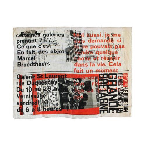 St. Laurent Scarf by Marcel Broodthaers