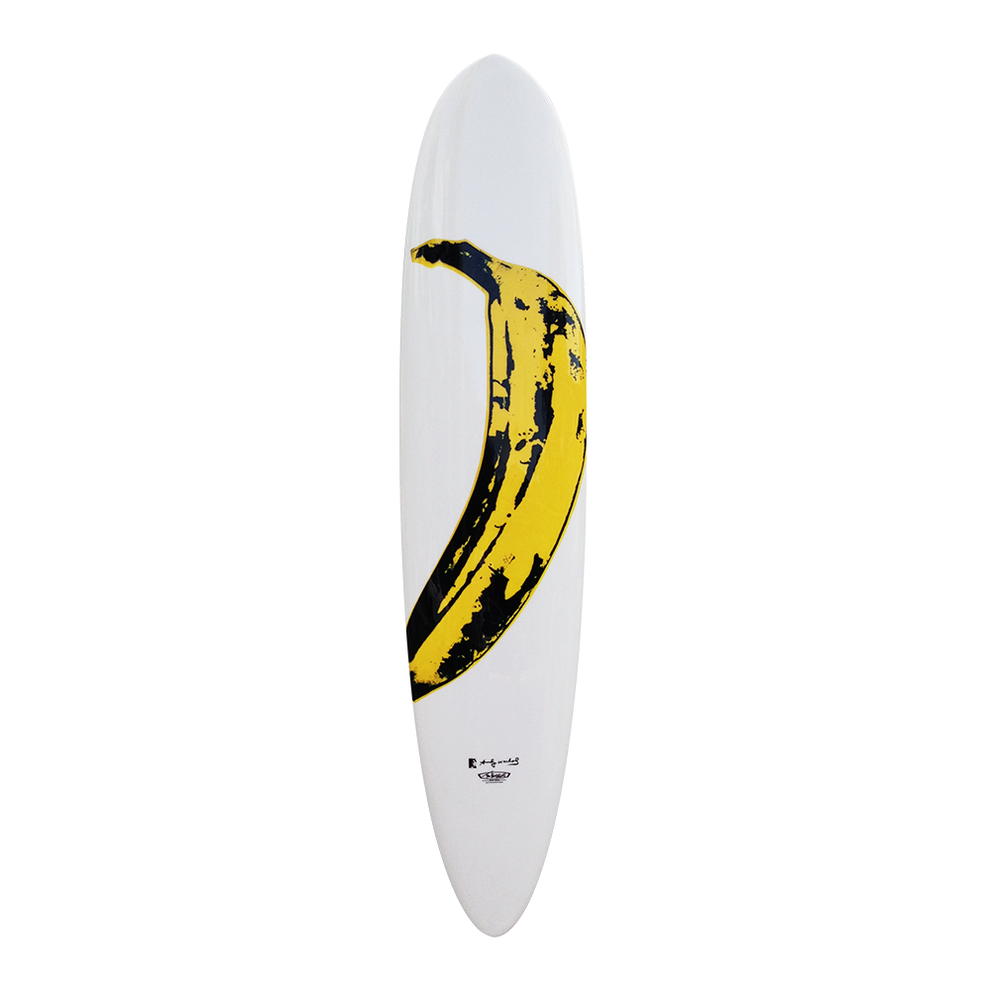 Banana Surfboard by Andy Warhol